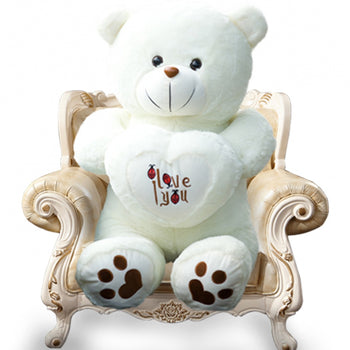 White Arms Heart-Shaped of Teddy Bear