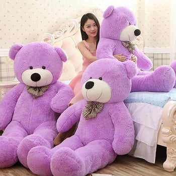 Purple Cuddly Giant Teddy Bear Super Soft Huge Plush Stuffed Animal Toys Doll - MxDeals.com