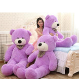 Purple Cuddly Giant Teddy Bear Super Soft Huge Plush Stuffed Animal Toys Doll