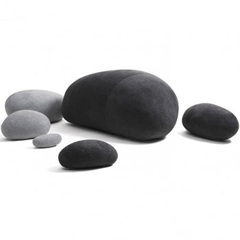 Huge Rock Pillows Pebble Pillows Living Pillows Living Stones Pillows PRE-FILLED Christmas Present ( Max Size Dark Gray ) - MxDeals.com