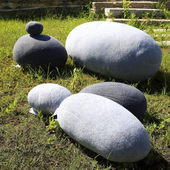 Huge Rock Pillows Living Stones Pillows Living Pillows Pebble Pillows PRE-FILLED Christmas Present ( Max Size Light Gray ) - MxDeals.com