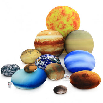 Solar System Pillows Planet Pillows Space Science Kids Play Educational Throw Pillows Fun Gift 12 Pieces - MxDeals.com