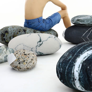 Rock Stone Pebble Pillows Decorative Floor Pillows Accent Throw Pillows Kids Room Pillows 7 Pieces