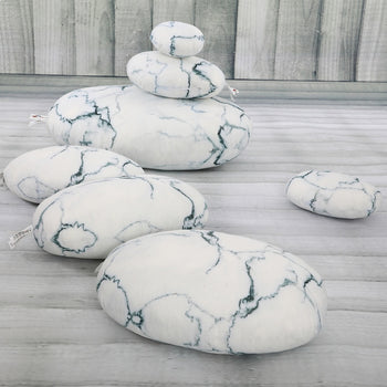 Pebble Rock Pillows Living Stone Pillows Decorative Throw Pillows Accent Floor Pillows 7 Pieces - MxDeals.com