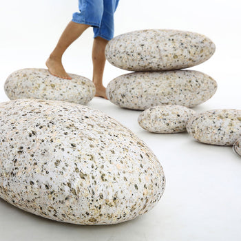 Pebble Stone Rock Pillows Decorative Throw Pillows Home Decor Floor Pillows Accent Sofa Pillows 7 Pieces - MxDeals.com