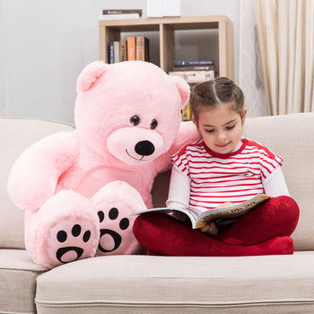 Pink Cuddly Stuffed Animals Plush Cute Giant Teddy Bear Toy Doll for Birthday Children's Day Valentine's Day - MxDeals.com