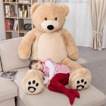 Cuddly Stuffed Animals Plush Cute Giant Teddy Bear Toy Doll for Birthday Children's Day Valentine's Day Brown - MxDeals.com
