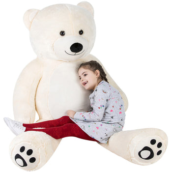 Cuddly Stuffed Animals Plush Cute Giant Teddy Bear Toy Doll for Birthday Children's Day Valentine's Day Ivory White - MxDeals.com