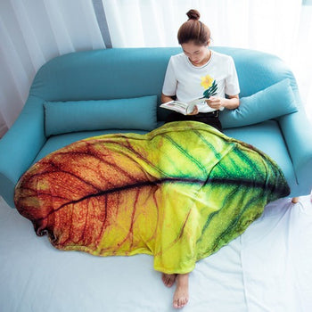 Simulated Leaf Multifunction Blanket Soft Blanket For Bedroom Living Rooms Sofa Style No.7