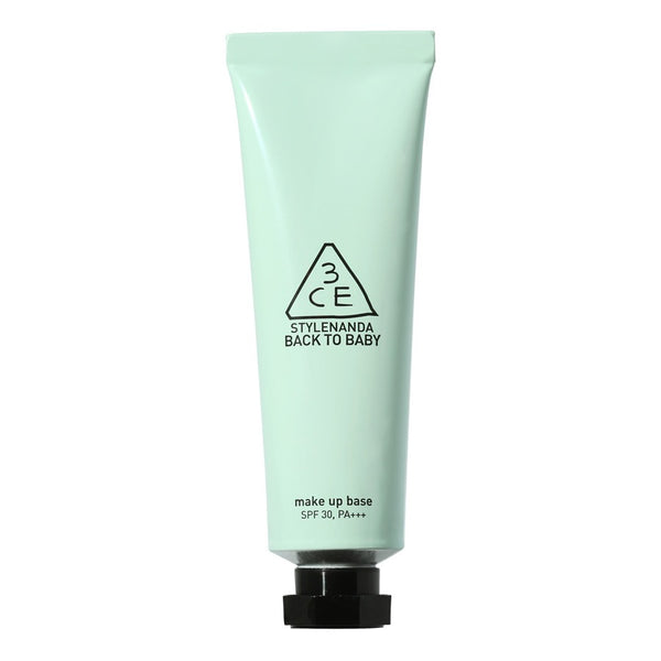 {3CE} BACK TO BABY MAKEUP BASE MINT GREEN SPF 30 PA+++