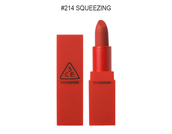 {3CE} RED RECIPE MATTE LIP COLOUR #214 SQUEEZING