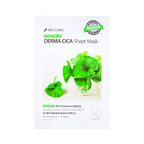 {3W CLINIC} ESSENTIAL UP SHEET MASK - DERMA CICA