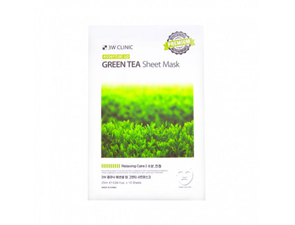 {3W CLINIC} ESSENTIAL UP SHEET MASK - GREEN TEA