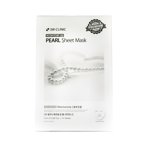 {3W CLINIC} ESSENTIAL UP SHEET MASK - PEARL
