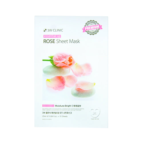 {3W CLINIC} ESSENTIAL UP SHEET MASK - ROSE