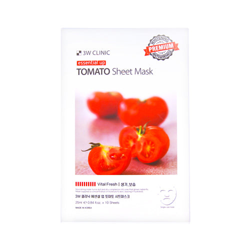 {3W CLINIC} ESSENTIAL UP SHEET MASK - TOMATO