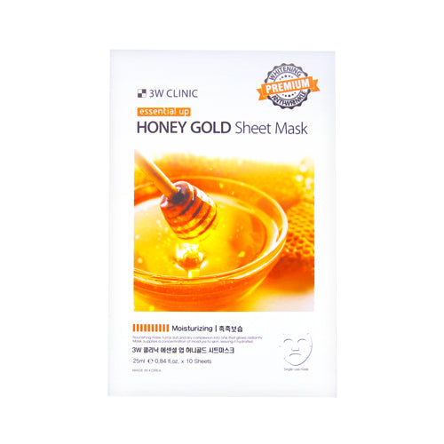 {3W CLINIC} ESSENTIAL UP SHEET MASK - HONEY GOLD