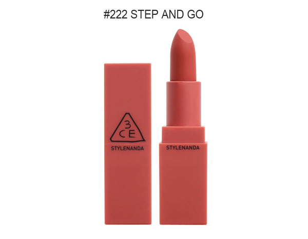 {3CE} MOOD RECIPE MATTE LIP COLOUR #222 STEP AND GO