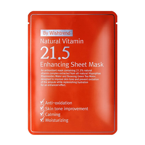 {BY WISHTREND} NATURAL VITAMIN 21.5 ENHANCING SHEET MASK