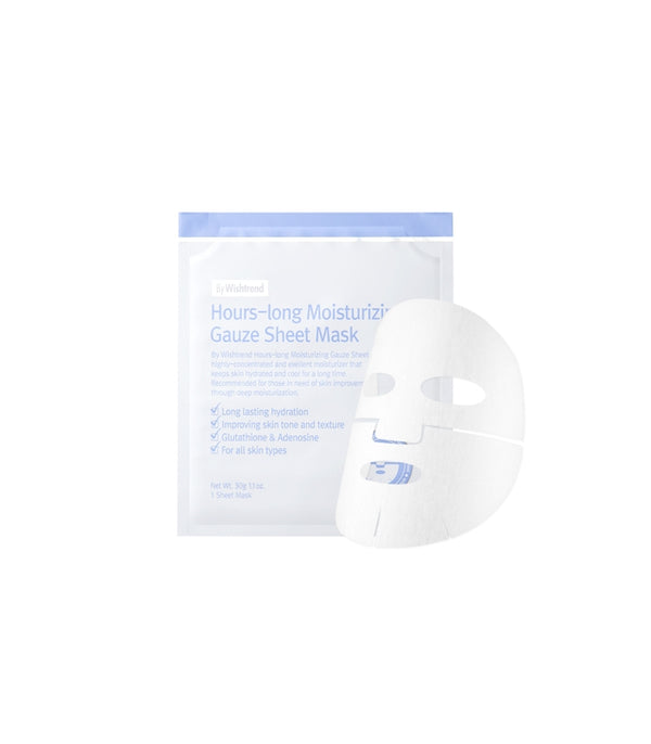 {BY WISHTREND} HOURS-LONG MOISTURIZING GAUZE SHEET MASK