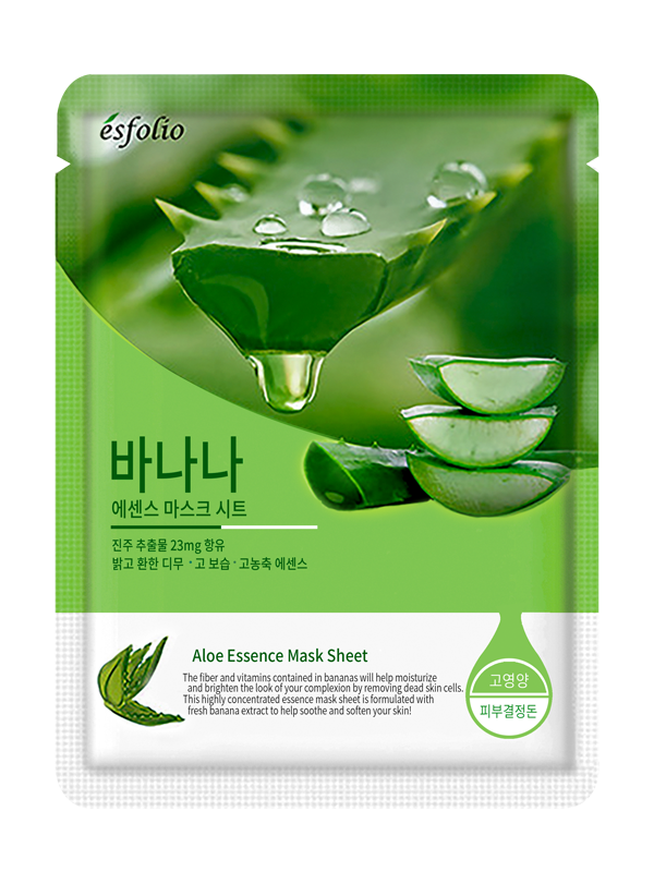 {ESFOLIO} ALOE ESSENCE MASK SHEET