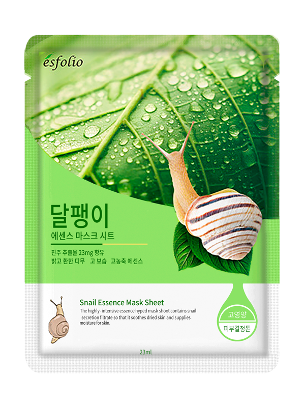 {ESFOLIO} SNAIL ESSENCE MASK SHEET