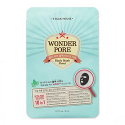 {ETUDE HOUSE} WONDER PORE BLACK MASK SHEET