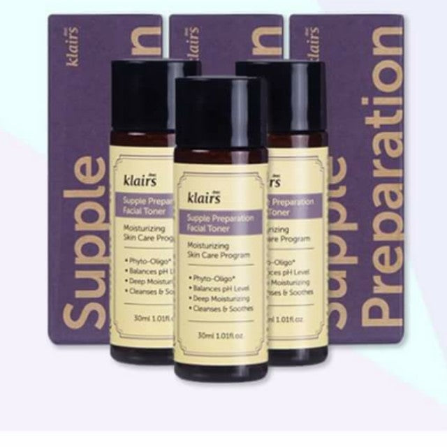 {DEAR, KLAIRS} SUPPLE PREPARATION FACIAL TONER - MINI SIZE 30ML X 3