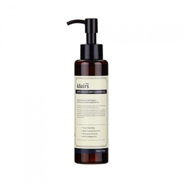 {DEAR, KLAIRS} GENTLE BLACK DEEP CLEANSING OIL