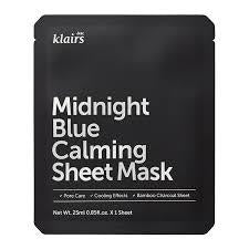 {DEAR, KLAIRS} MIDNIGHT BLUE CALMING SHEET MASK