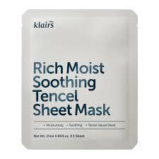 {DEAR, KLAIRS} RICH MOIST SOOTHING TENCEL SHEET MASK