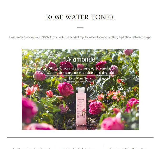 {MAMONDE} ROSE WATER TONER