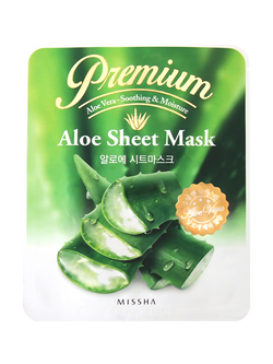 {MISSHA} PREMIUM ALOE SHEET MASK - 1 PACK (5 PCS)