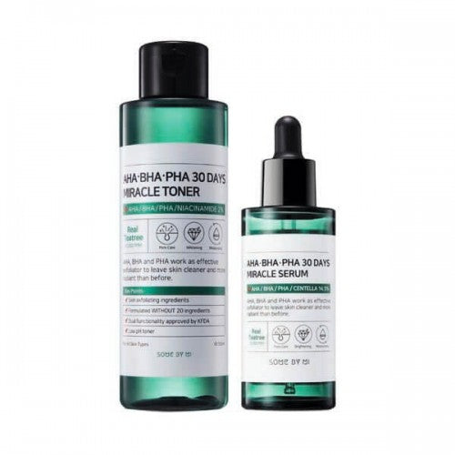 {SOME BY MI} AHA, BHA, PHA 30 DAYS MIRACLE TONER + SERUM + SOAP SET