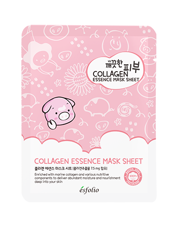 {ESFOLIO} PURE SKIN COLLAGEN ESSENCE MASK SHEET