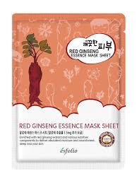 {ESFOLIO} PURE SKIN RED GINGSENG ESSENCE MASK SHEET