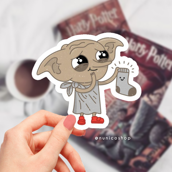 Elf Dobby Harry Potter Etiket Sticker