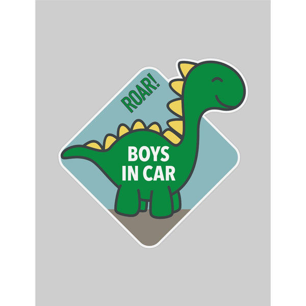 Boys in Car Araba Sticker