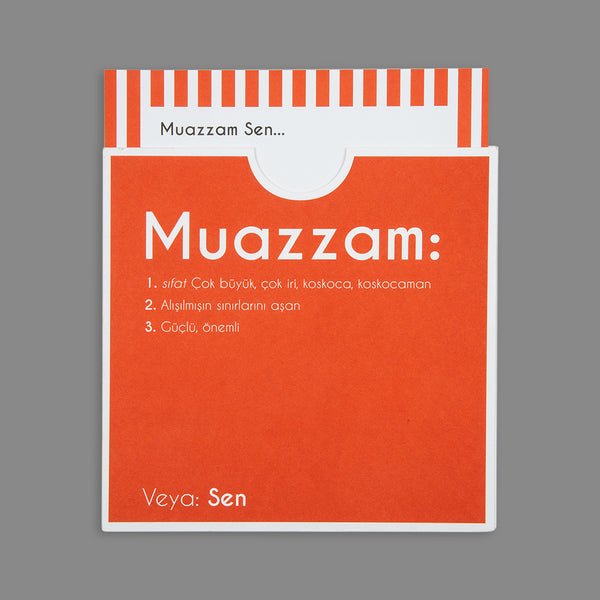 Dictionary Cards - MUAZZAM