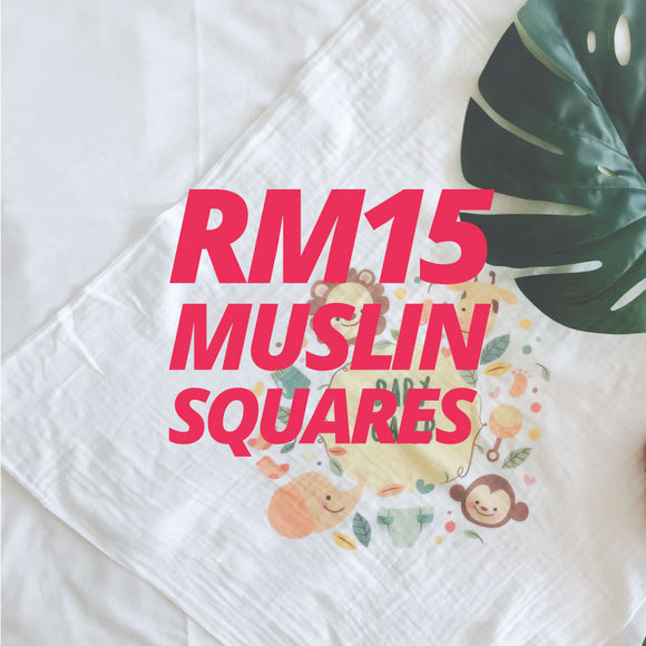 RM15 Baby Muslin Squares