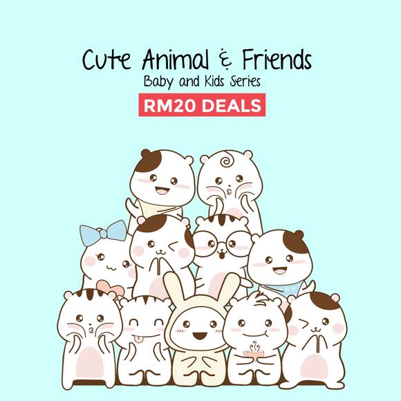 Cute Animals & Friends RM 20 Baby Rompers