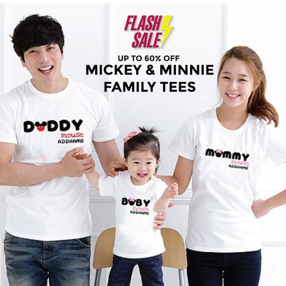 FLASH DEAL - Mickey and Minnie Add Name Family Edition