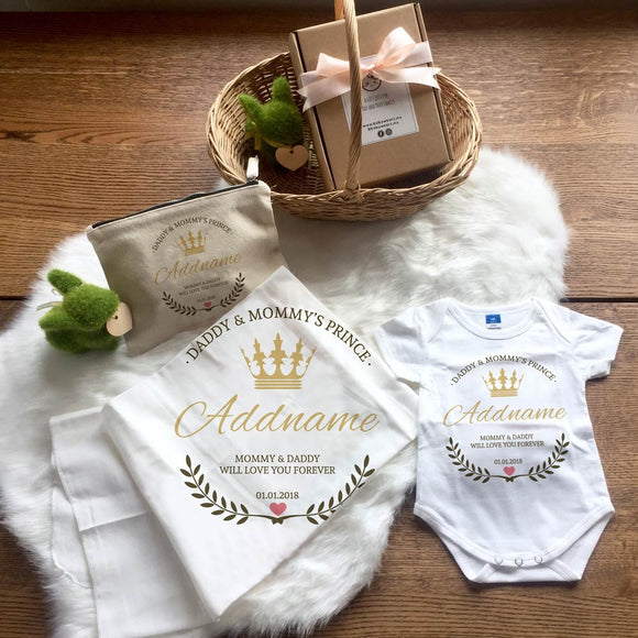 Daddy & Mommy's Prince Newborn Gift Set