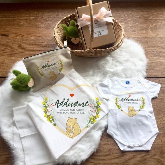 Loving Mother and Child Lion Newborn Gift Set