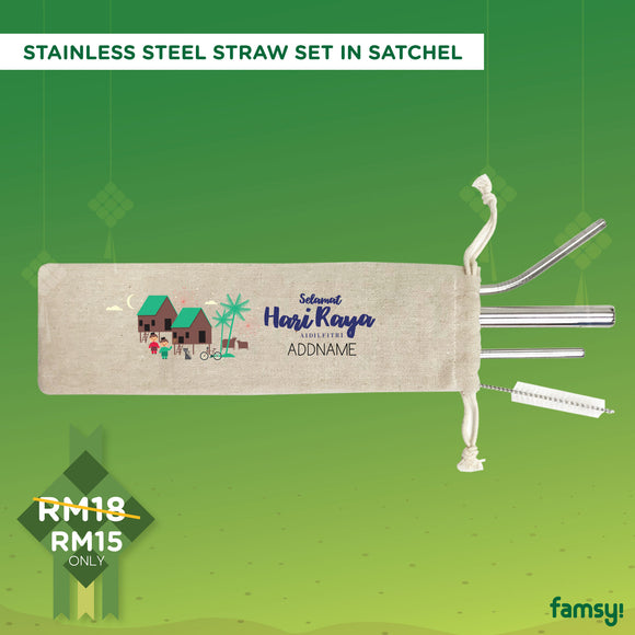 4-in-1 Stainless Steel Straws Raya Gift Sets