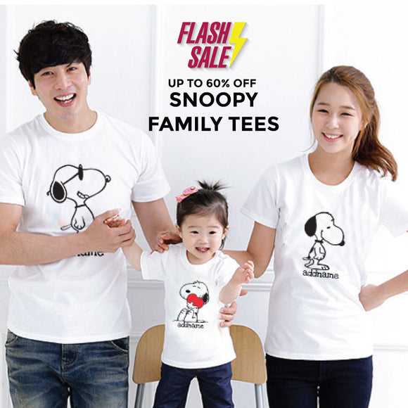 FLASH DEAL - Snoopy Add Name Family Edition
