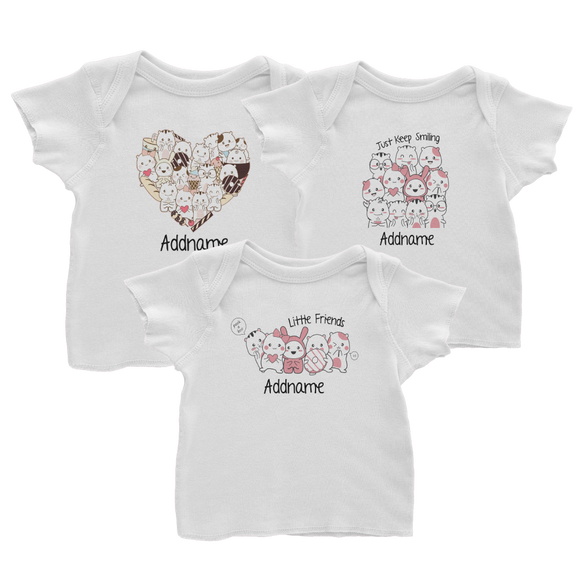 Cute Animals & Friends RM 20 Baby T-Shirts
