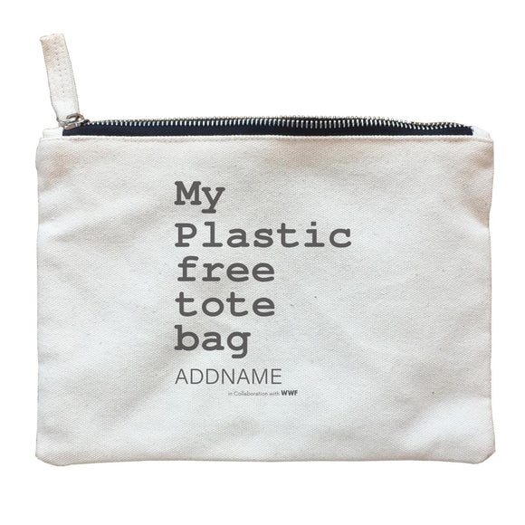 My Plastic Free Grocery Bag Addname Zipper Pouch
