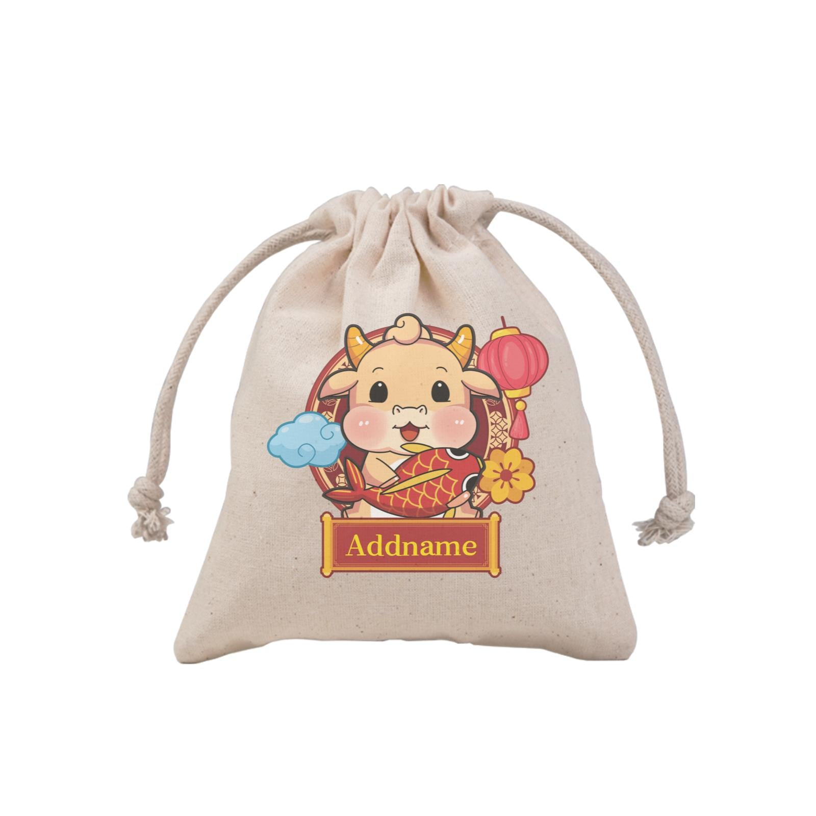 [CNY 2021] Golden Cow with Koi Fish MP Mini Pouch
