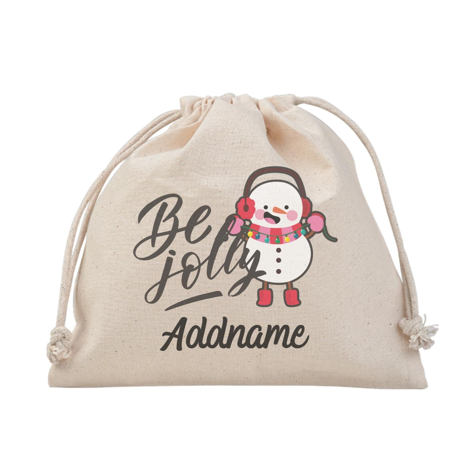 Christmas Series Happy Snowman Be Jolly Satchel